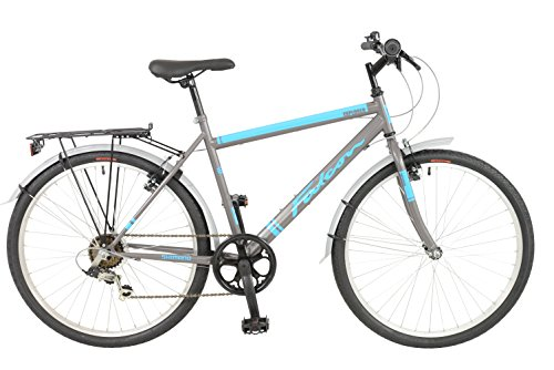 FalconExplorer Unisex Mountain Bike Black/Blue, 19