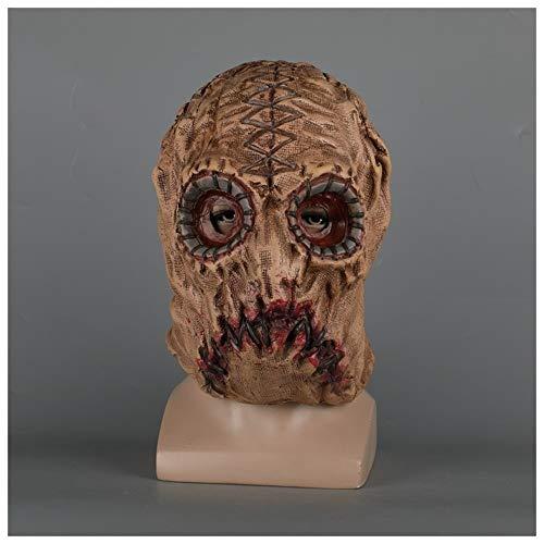 YaPin Spiel Scum Mask Kopfbedeckung Vogelscheuche Halloween Tag der Toten Show Dress Up Requisiten Human Skin Mask