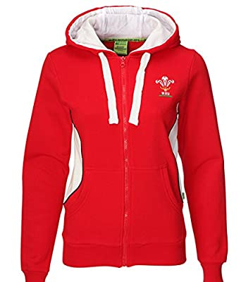 WRU Welsh Rugby Union Ladies Full Zip Hoody from Official Welsh Rugby Union