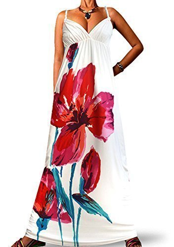 Robes Femmes Maxi Angela à Bretelles Torsadées Blanc 1