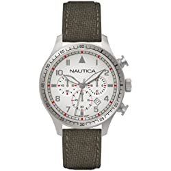 Nautica BFD 105 Men's Quartz Watch with Chronograph Display and Textile Strap