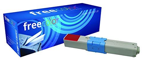 Preisvergleich Produktbild Freecolor 44973534 für Oki C301/C321, Premium Toner, wiederaufbereitet 1500 Seiten, bei 5% Deckung, magenta
