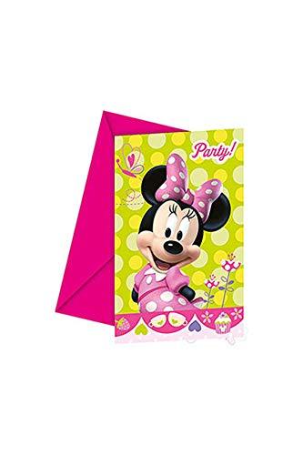 amscan Minnie Maus Toons 6 Einladungskarten