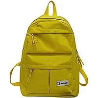 FBGood Damen Herren Solide Paar Rucksack Großer Kapazität Studenten Umhängetasche Draussen Reisetasche Mode Schulrucksack Satchel Taschen