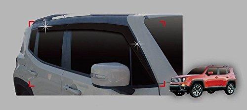Autoclover Für Jeep Renegade 2014+ Windabweiser-Set (4Stück) (geräuchert)