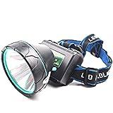 HZYRR Fari da Esterno Fari di Carica abbaglianti Esterni ad Alta Potenza Super Luminoso a Lungo Raggio proiettore Luce Bianca Gialla Luce LED Blu Lampada da minatore