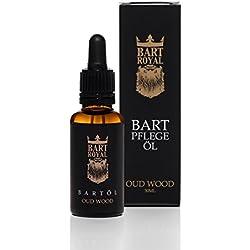 Bart Royal Bartpflege-Öl Oud Wood, ergiebiges, hochwertig-royales Luxus-Bartöl für weiche, geschmeidig-glatte Voll-Bärte / Drei-Tage-Bart, 30ml