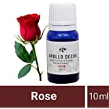 [Sponsored]Apollo Décor Aroma Diffuser Essential Oil, Home Fragrance, Multiple Scents, 10ml Each, Glass Bottle (Rose Essential Oil, 10ml)