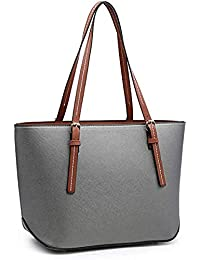 Casual Tote Bag For Ladies Girls And Womens (Grey)