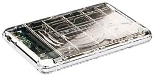 Platinum MyDrive 500GB externe Festplatte (6,4 cm (2,5 Zoll), 5400rpm, 8MB Cache, USB 2.0) transparent