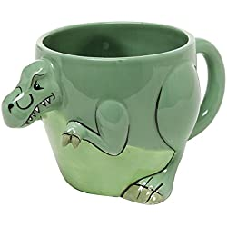 3-D Shaped T-Rex Dinosaur Design Ceramic Mug / Novelty Cup / Decorative Drinkware, Green - MyGift® Home by MyGift