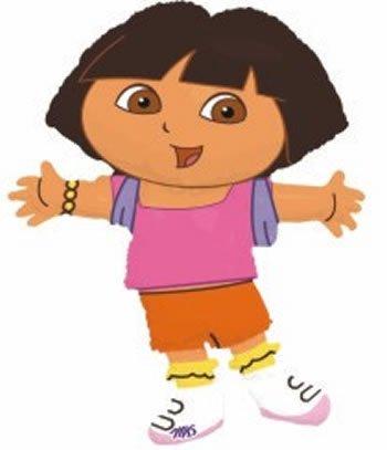 Dora The Explorer Riesen Folienballon (nicht aufgeblasenen)