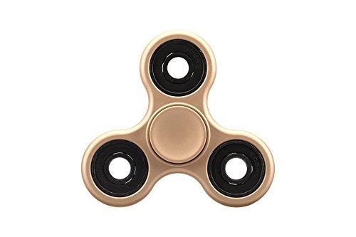 Oklm fidget spinner gadget antistress rotante  con rondella centrale in ceramica con si3n4 ibrido per alleviare stress e ansia , ultra resistente, non prodotto con stampa 3d