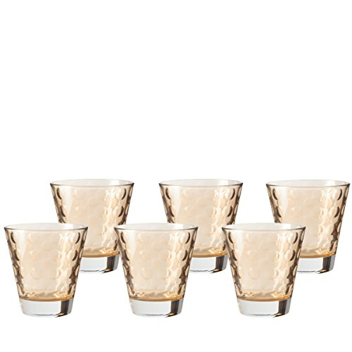 Leonardo 35248 Optic Set de 6 Verres Whisky Coloris Assortis 035248