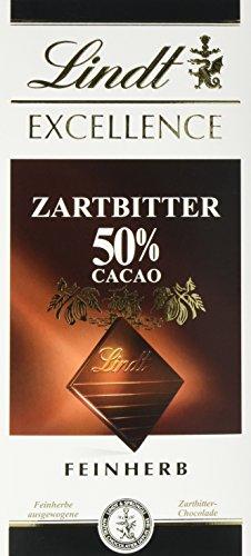 Lindt & Sprüngli Excellence Zartbitter 50 %, 4er Pack (4 x 100 g) -