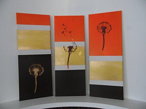 tableau-peinture-acrylique-decoration-interieur-fleurs-pissenlit