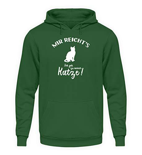 shirt-o-magic Katzenliebhaber: Ich GEH zu meiner Katze! – Unisex Kapuzenpullover Hoodie