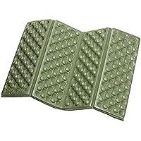 Fliyeong Foldable Seat Cuchion Outdoor Camping Mat Portable Foam Picnic Pad Waterproof Kneeler Seat Pad 2 Pieces Green