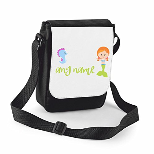 personalised-mermaid-m4-green-tail-with-redhead-seahorse-any-name-shoulder-bag