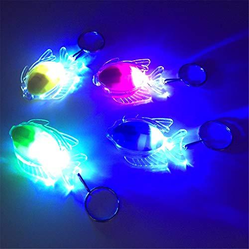 only y Nur y Mini Fisch LED Licht-Up Spielzeug Keychain Party Favors Kinder Spielzeug Geschenk Gadgets Tasche ()