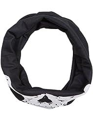 Pañuelo multifunción, forro polar, Diseño de Calavera, braga para cuello, Negro