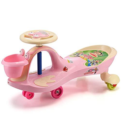 LY Kinderspielzeug Twist Car-Ride On Spielzeug for Jungen und Mädchen-Front Ablagekorb/Mute Wheel/Mit Musik (Color : C) (Für Jungen Ride On Cars)