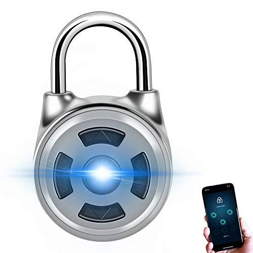 Elektronische Türschloss Fingerabdruckerkennung Smart Keyless Wasserdichte Sicherheit Anti Diebstahl Vorhängeschloss Weit verbreitet (#2)