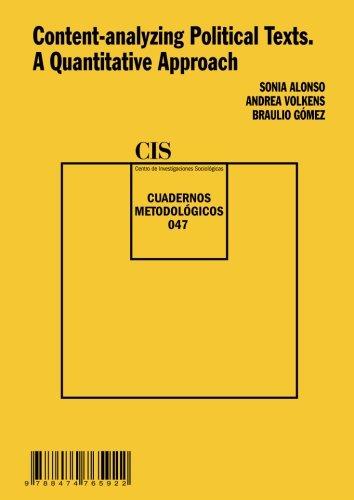 Portada del libro Content-analyzing Political Texts. A Quantitative Approach (Cuadernos Metodológicos)