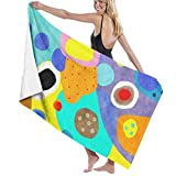 Abstract Unusual Weird But Wonderful Colours Microfiber Bath Towel Beach Towel Beach Blanket Quick Dry Towel for Travel Swim Pool Yoga Camping Gym