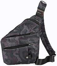 Waterproof Sling Bag, Anti Theft Slim Classic Crossbody One Shoulder Bag for Travel, Walking Hiking, Cycling w