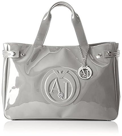 Armani Jeans Borsa Shopping, Cartables femme, Grau (Grigio Chiaro), 26x14x40 cm (B x H T)