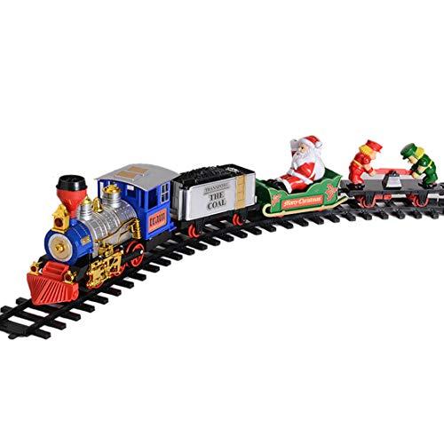 ColiCor Weihnachten Bahnhof Modelleisenbahn H0 Mit Musik,Mini Elektrische Eisenbahn Set Für Kinder