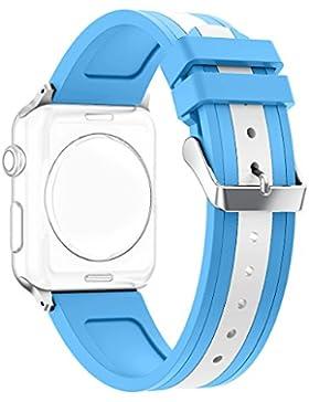 Für Apple Watch 42MM Armband, Rosa Schleife Silikon UhrArmband Sport Wristband für Apple Watch Series 2 Series...