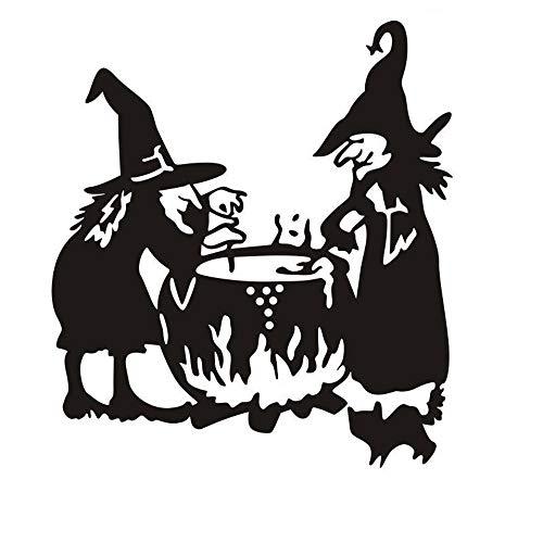 Longra ☂☂❤️❤️ Halloween Bruja Fondo Etiqueta de la Pared Ventana Etiqueta de la casa decoración...