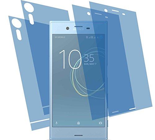 4ProTec 4X GEHÄRTETE ANTIREFLEX matt 3D Touch Schutzfolie (2X vorne, 2X hinten) für Sony Xperia XZs Displayschutzfolie