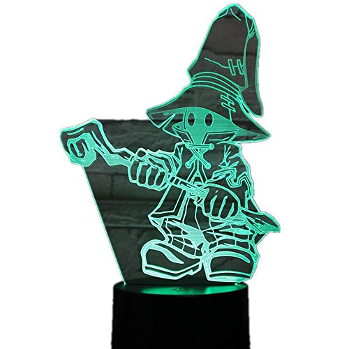 wangZJ Lámpara visual 3d / Ilusión óptica Led Night Light / 7 colores Lámparas táctiles/con acrílico plano/Navidad Regalos de cumpleaños/FINAL FANTASY IX