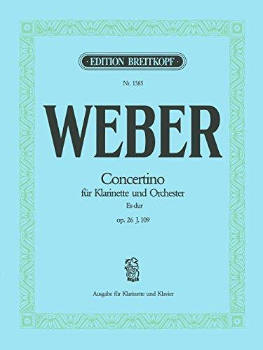 Concertino Fur Klarinette Und Orchester Es-Dur Clarinette por Carl Maria Von Weber