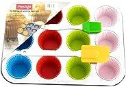 Prestige 12-Cup Deep Muffin Pan Set 15-Piece, Multi Color