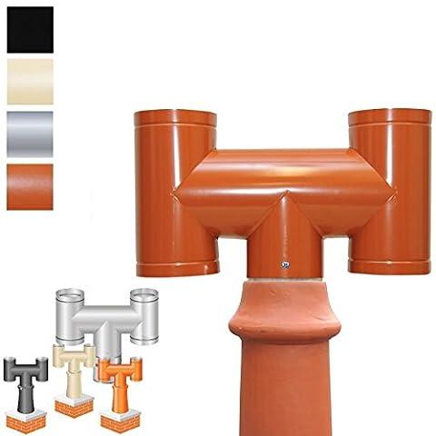 Sh2t: H Mitre anti Downdraught Bénitier de cheminée pour 200mm/20,3cm Conduit + raccords pour décoratifs Pots en terre cuite,