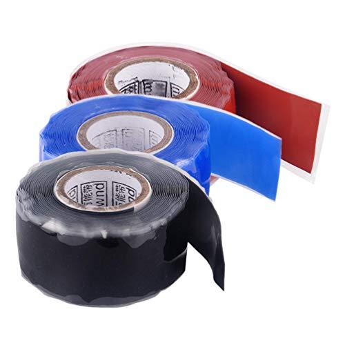 Wetterfestes 3Er-Pack-Gummidichtband, 2,5 cm Breit. Auch in Mehreren Farben für Außenantennen-Koax-Schlauch- / Rohrlecks Erhältlich. Elektrische Kabel