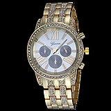 Women's Diamond Case Diamante Alloy Band Quartz Wrist Watch (Assorted Colors)