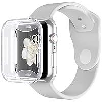 Vproof Funda Apple Watch 44mm Series 4, Protector Pantalla iWatch 4 [Protección Completo] [Anti-Rasguños] [Ultra Transparente] [Recorte Preciso] Funda Suave TPU para 2018 Nueva Apple Watch Series 4 (Transparente)