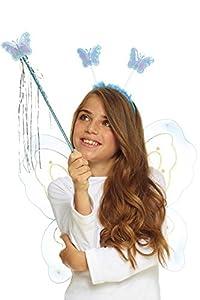 AEC-set mariposa azul, unisex infantil, aq05621, talla única