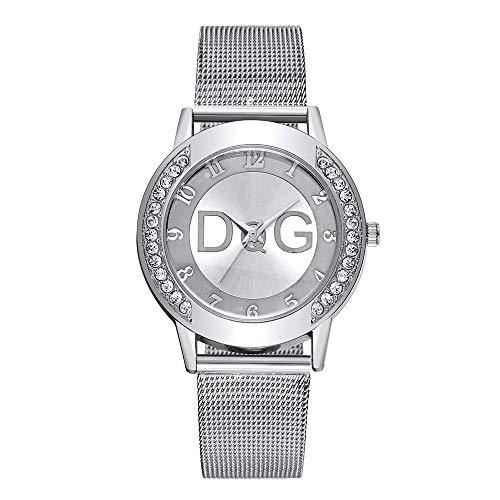 Hot Sale.firally Simple Mode Femme de la Sangle Regarde Cas de Strass Horloge Couleur Puro Wristwatches Montres de Poignet Montres pour Femme Argent