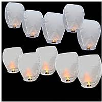 Lanternes aériennes/volantes - respectueuses de l'environnement - lanternes de Noël, nouvel an chinois, nouvel an, mariages, fêtes (40x58x105 cms) - x 20