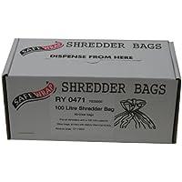 Safewrap - Bolsa para destructora de papel (50 unidades, 100 L), transparente