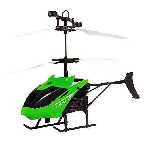 Bolange Induktions-Hubschrauber Dual-Mode-Fernerkundung Sensor Anti-Drop-USB-Lade Fernbedienung Flugzeug Kinder grün -