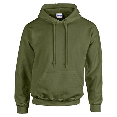 Sweatshirt Turn-up (GILDAN Herren Kapuzenpullover Grün Military Green Large)