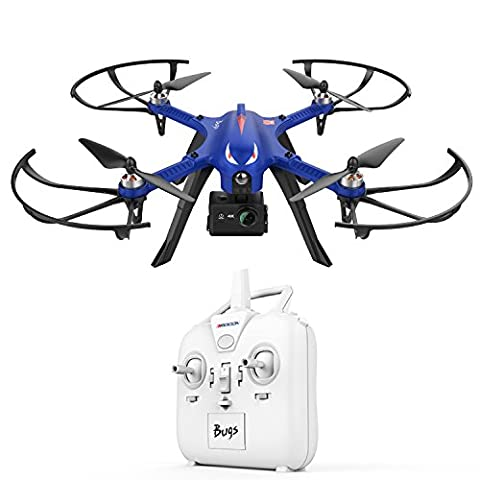 DROCON Monster Blue Bugs 3 High-Speed MJX Quadcopter Drone Powerful Brushless Motors, 15-Minutes of Flying Time Supports GoPro HD Camera, 300m Control Distance