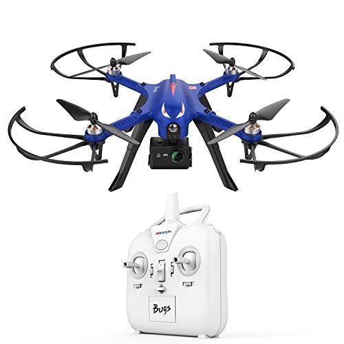 DROCON Drone Bugs3 Helicoptère télécommandé 2.4Ghz 6 Axes Gyroscope Quadcopter FPV Vidéo support de fixation pour caméra d'action HD